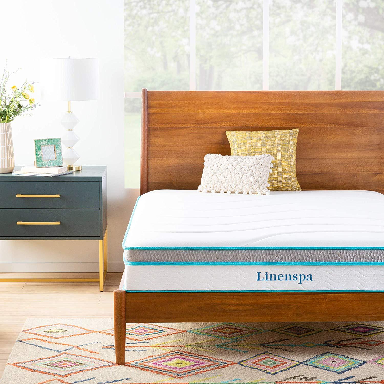 Linenspa 10 Inch Memory Foam and Innerspring Hybrid Mattress