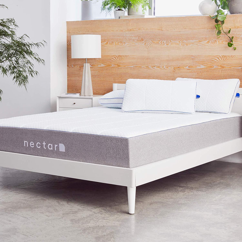 Nectar Queen Mattress + 2 Pillows Included