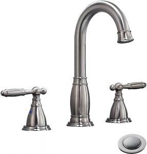Nickel Widespread Bathroom Faucets by Phiestina
