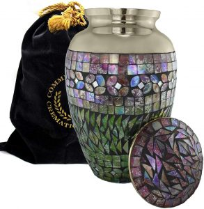 Mosaic Cracked Glass Cremation Urns for Human Ashes​