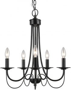 LALUZ, 5-Light 2-Layer Dining Chandeliers for Foyer