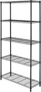 Whitmor Black Supreme 5 Tier Adjustable Shelves