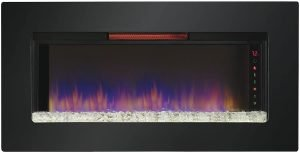 """ClassicFlame 47II100GRG Felicity 47"""" Wall Mounted Infrared Quartz Fireplace"""