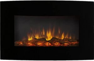 Regal Flame Gibson Living GL5135LE Soho Curved Wall Mounted Electric Fireplace