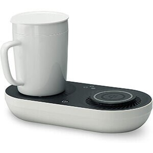 Nomodo Wireless Qi-Certified Fast Charger with Mug Warmer